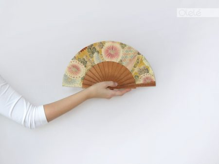 Kiku - beige mini fan
