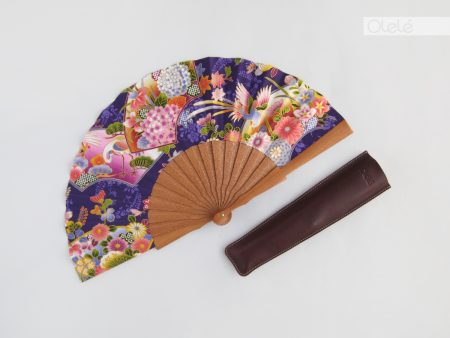 Sumire - Purple Japanese fan