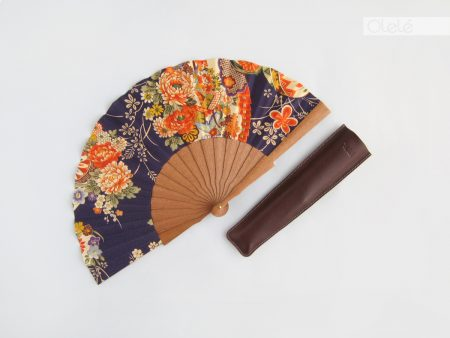 Kaori - Blue and orange fan