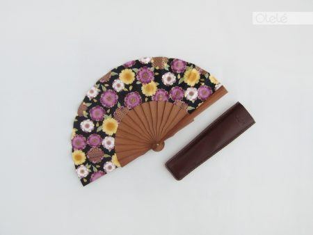 Sakura Purple mini - Japanese fan - 19cm - 7.5""