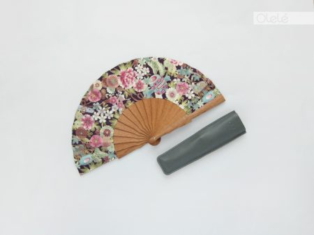 Harusaki mini - Purple Japanese fan