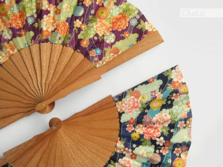 Shioka - Waves hand fan - pick your color
