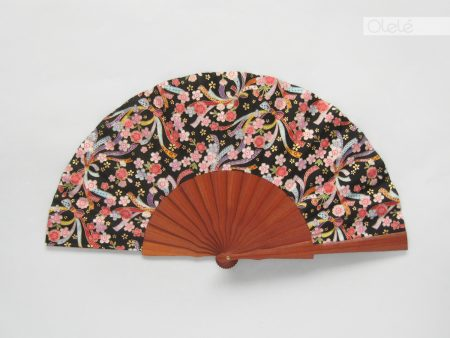 Sachiko - japanese black and red fan