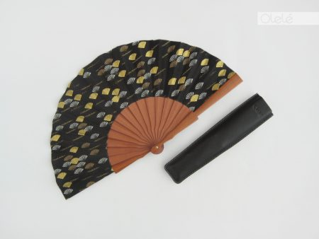 Sensu - Black and gold fan