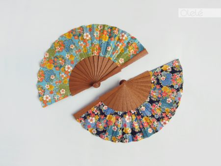 Haruka - Turquoise or Blue fan - Pick your colour