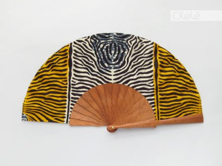 Animal Print Yellow - African hand fan