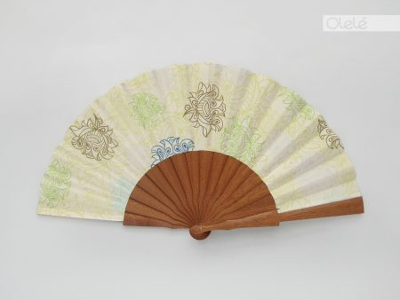 White summer - Olele hand fan