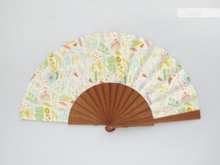 Veranito - White wooden fan