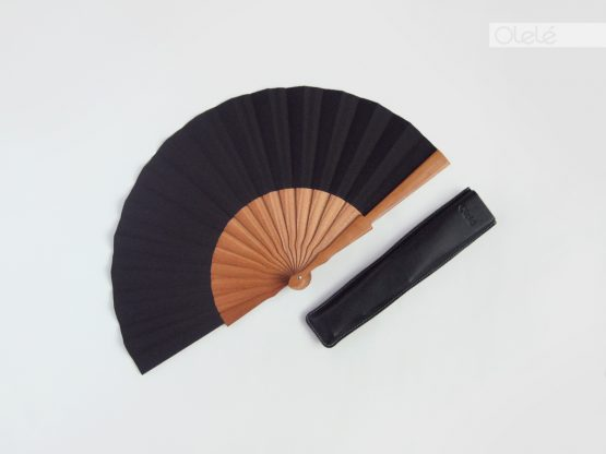 Plain black hand fan