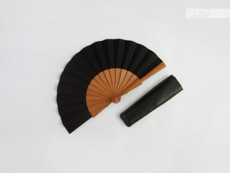 Small plain black fan – 19 cm – 7.5″