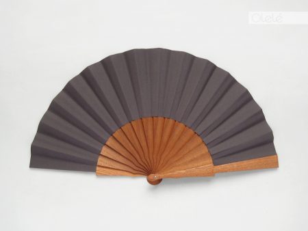 Plain hand fan - Grey