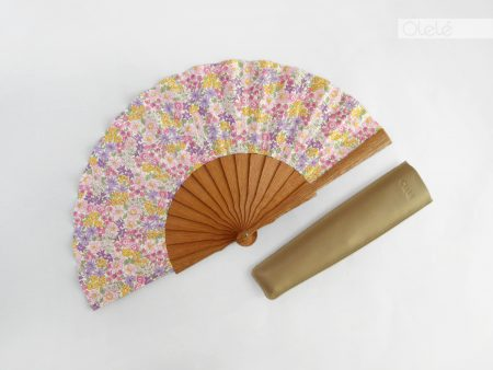 Lavender flowers - Liberty fabric fan