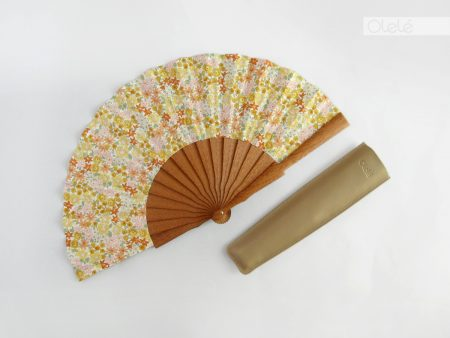 Yellow flowers - Liberty fabric fan