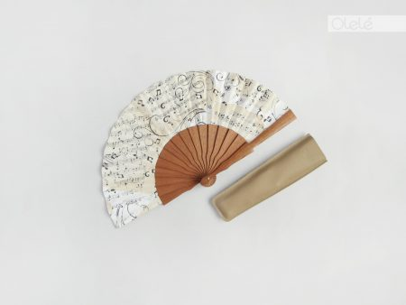 Sheet music - mini hand fan