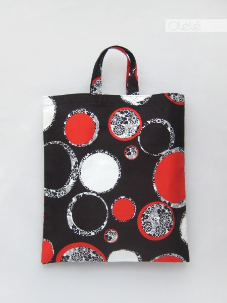 Japanese fabric tote bag - Black #07