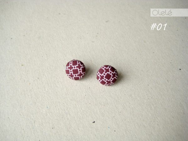 Fabric-covered earrings by Olele